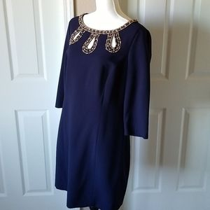 Gorgeous Lilly Pulitzer Navy beaded dress